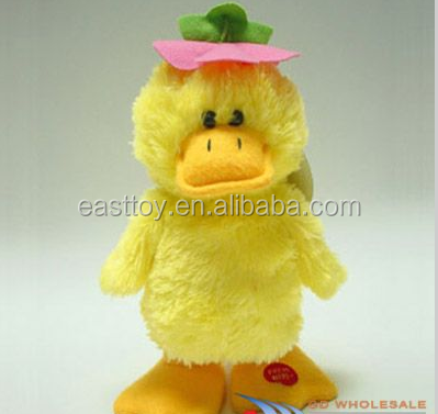Easter Cheap Plush Duck with Hat