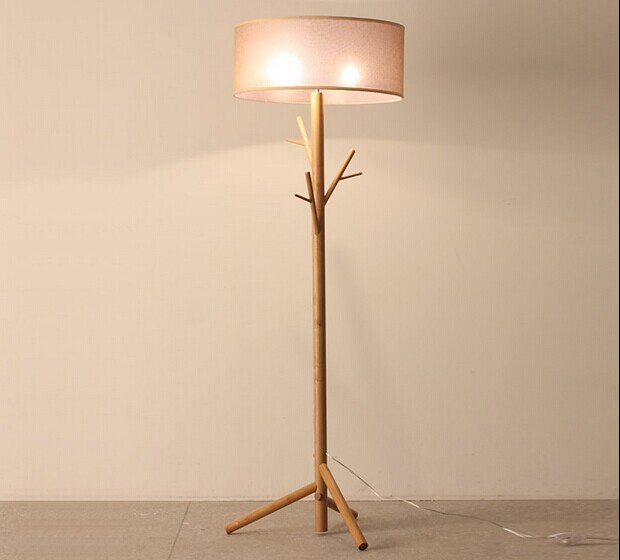 2017 tree branches shape wooden floor lamp standing lamp