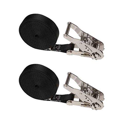 Black endless ratchet straps wire quick disconnect