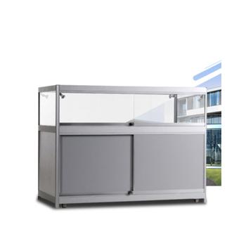 Portable Exhibition Folding Display : Portable exhibition glass display counter foldable display