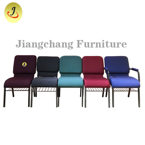 Cheap Church Chair Metal Used Auditorium Upholstered chair For Church