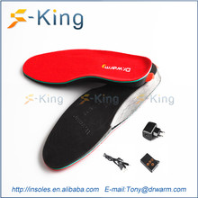 Battery powered far infrared heating pad for heated insole