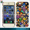 Suitable for public water print transfer carton PC crystal case for Iphone 5