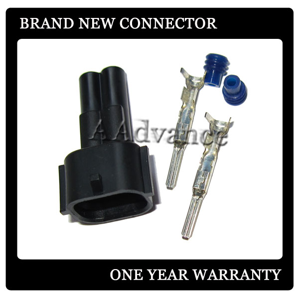 Nippon Denso Style 2 Male Fuel Injector Connector Plug Kit