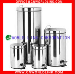 3L to 40L Foot Pedal Stainless Steel Dust Bin