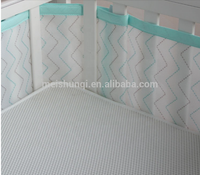 breathable mesh crib liner cot bumpers in mesh 3D sandwich fabric baby cot bumper