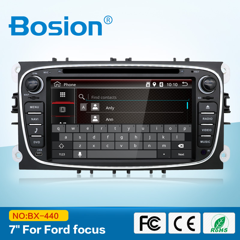 Double din 7 2 Polegadas Vídeo Som Do Carro CD DVD Player GPS SAT Nav Radio para Ford Mondeo Tourneo Connect trânsito-S max