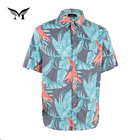 Best selling custom cheap casual summer floral printed light color shirts for men