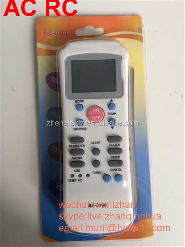 High Quality White 15 Keys Bz-0166 Air-conditioner Remote Control ...