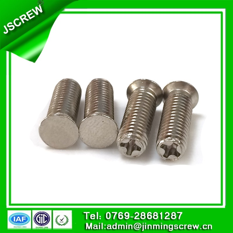 10#*32 stainless steel end up with phillips blunt end copper flat head screw for door