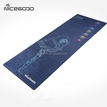 Custom printing Combo Yoga Mat Luxurious Non-slip Mat/Towel Designed to Grip Better w/ Sweat