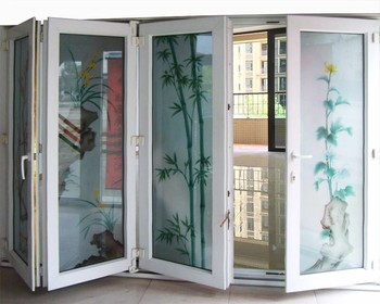 Plastic Sliding Open Style Wooden Door With Iron Grill Design Surface Finishing Pvc Folding Accordion