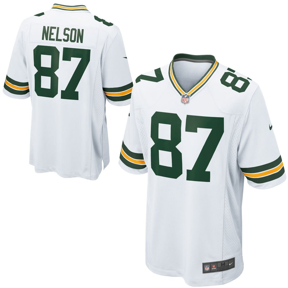 5f5ef1adff4 Get Quotations · NIKE Jordy Nelson Green Bay Packers NFL Youth White Road  on-Field Jersey