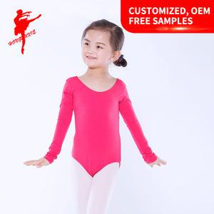 fc84409e9cca Kids long sleeve cotton ballet dance costumes Training Dancewear gymnastic  Leotards 5005
