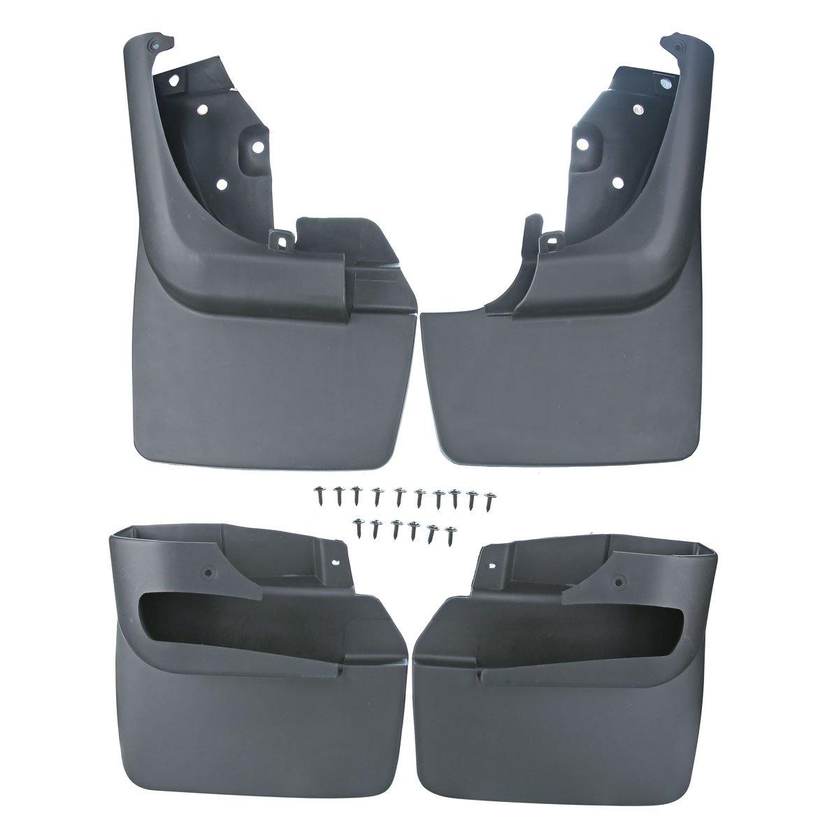 A-Premium Splash Guards Mud Flaps Mudflaps for Toyota LandCruiser 80 Series 1990-1997 withFactoryFenderFlares 4-PC Set