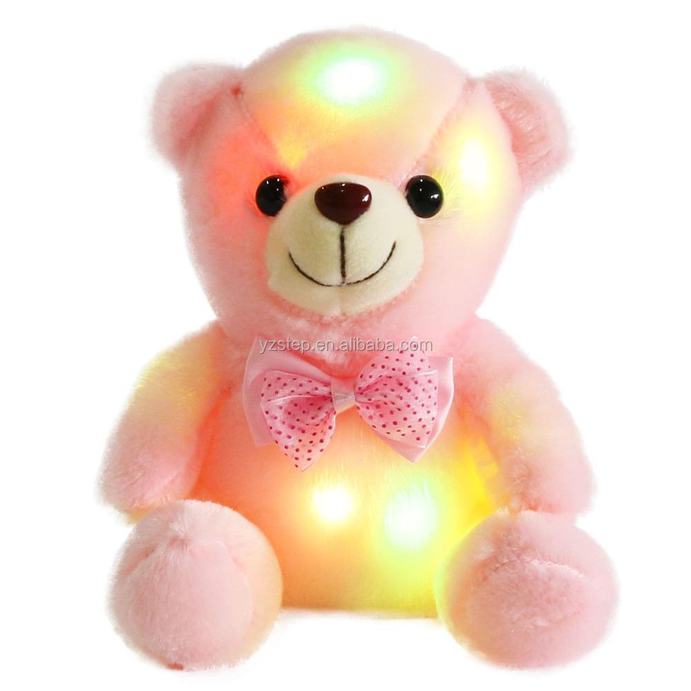 Dropshipping Light Up Plush Animals Luminous Plush Teddy Bear Buy