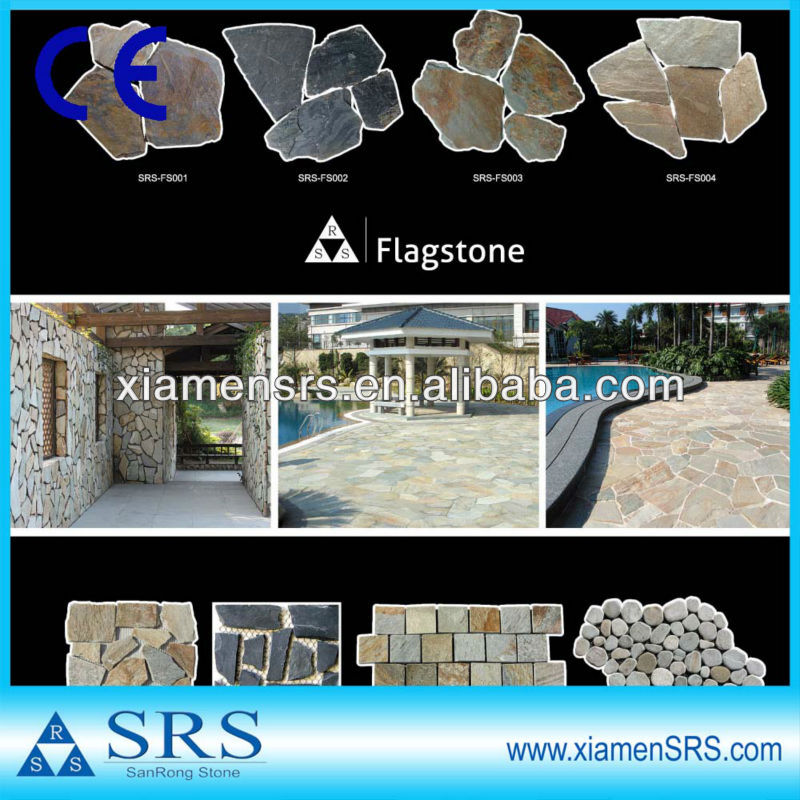 China cheap flagstone for flooring and patio paving
