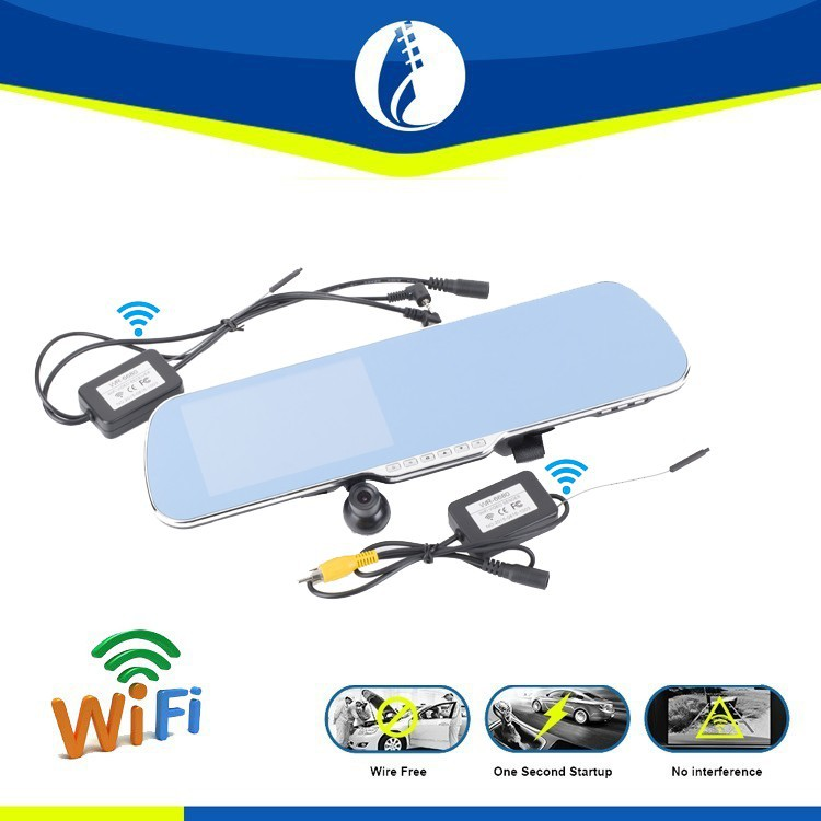 5.0inch wire free Android 4.1 system wireless wifi GPS car wireless reverse camera