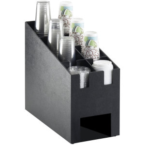 Wall Mounted 2 Slot Acrylic Paper Cup Holder Dispenser Organizer