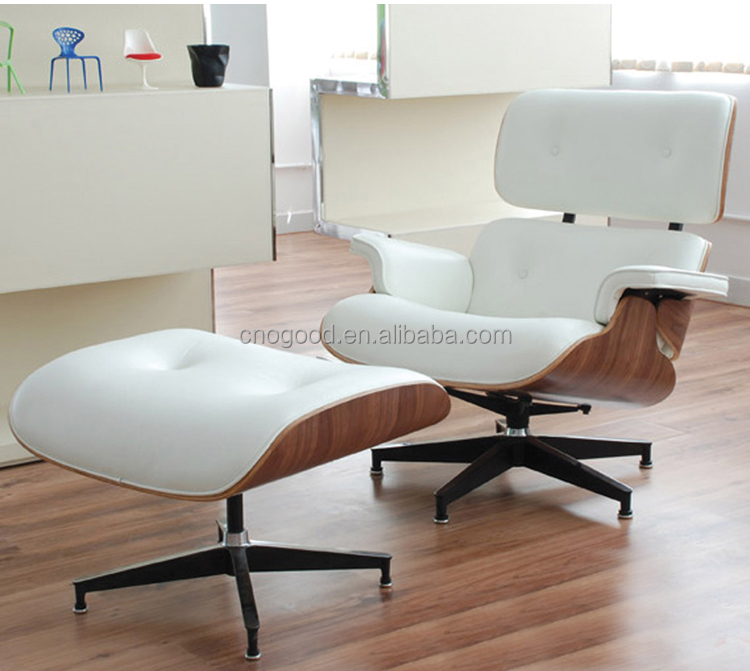 fashion leather chair with leg rest/office chair with footrest