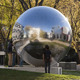 polished abstract sphere 304 stainless steel sculpture for home park