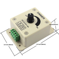 8A Single Color Knob Dimmer LED Dimmer 12V 24V 8AKnob LED Dimmer Rotary Dimming Wall Switch ON OFF Single Color LED Strip light