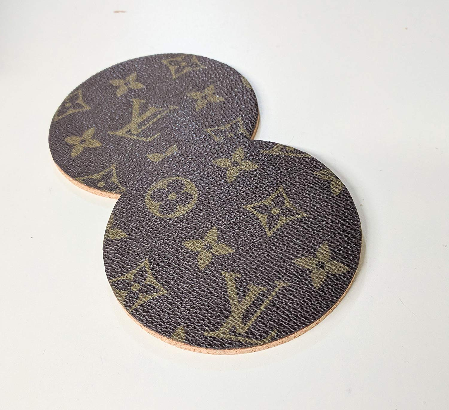 Handcrafted upcycled and repurposed Set of two coasters from old bag's canvas-please read item description before you make your purchase
