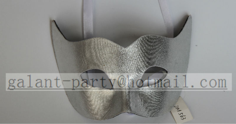 New Silver Solid Color Paty Mask New Crown Face Mask Computerized Embroidery Imitation Leather All Season Comfortable Party Mask