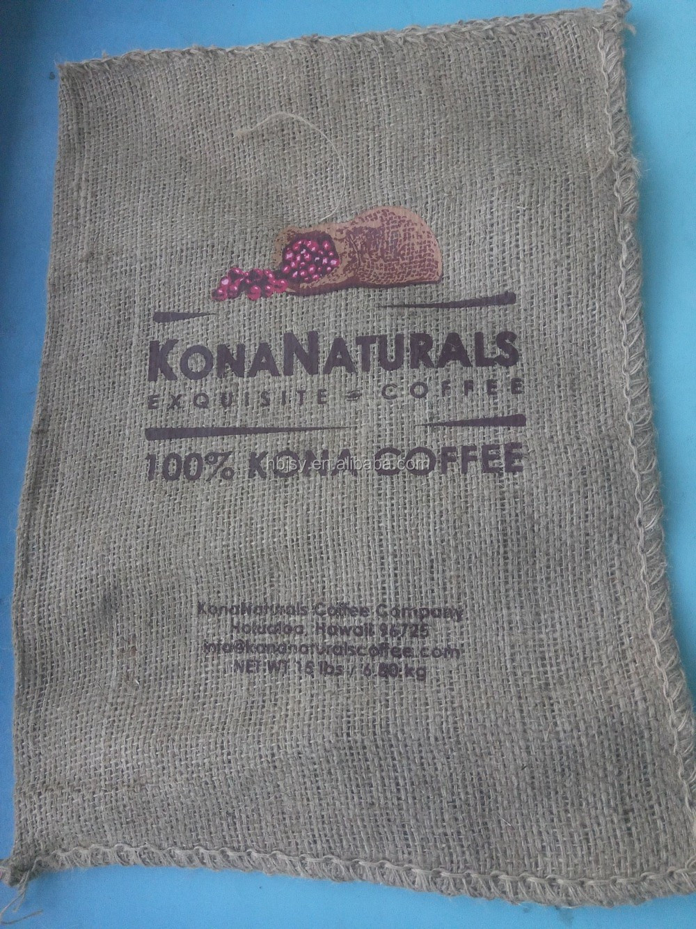 Jute bags coffee 60kg cocoa bean nuts jute gunny bags for coffee custom printing