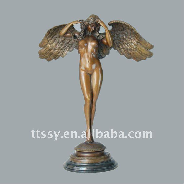 Lovely Casting Bronze Angel Goddess Statue - Buy Casting Bronze Goddess  KN27