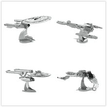 STAR TREK 4 styles BIRD OF PREY 3D metal puzzle model nano 2 Sheets Wholesale price Stainless steel DIY  Creative