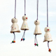 Ceramic Hanging Ornament Smile Sunny Doll Wind Chime