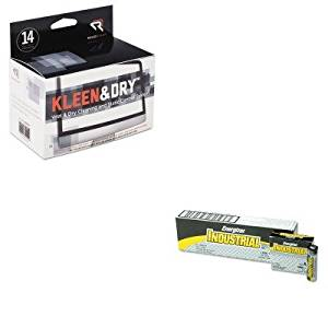 KITEVEEN91REARR1205 - Value Kit - Read Right Kleen amp;amp; Dry Screen Cleaner Wet Wipes (REARR1205) and Energizer Industrial Alkaline Batteries (EVEEN91)