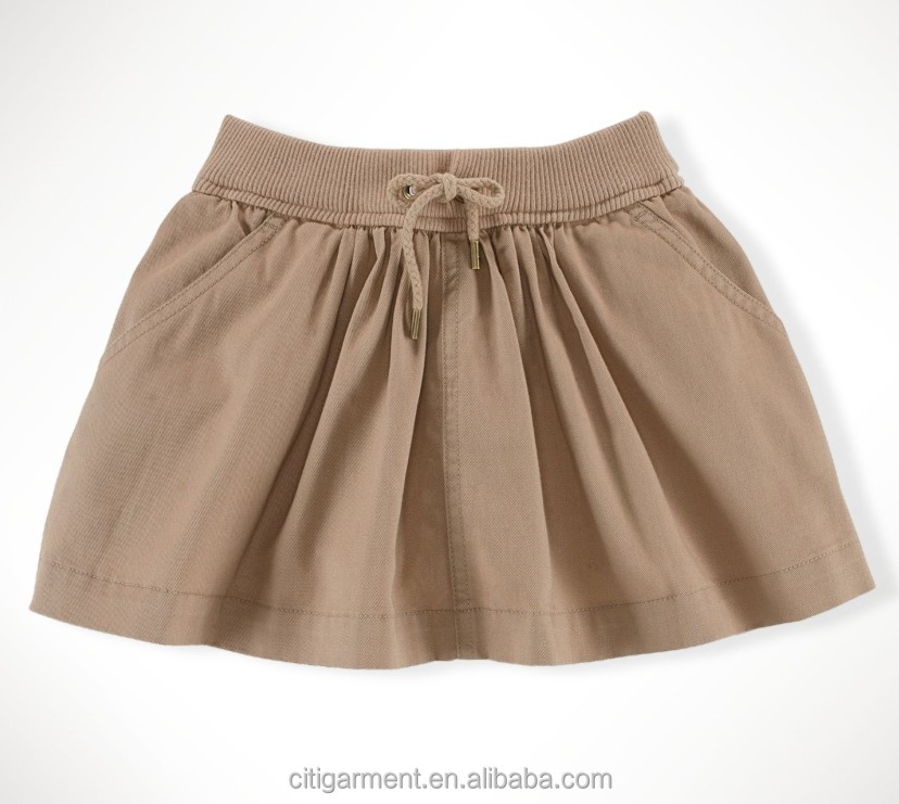 Children Girls Flared Cotton Skirt ( 7-16years)