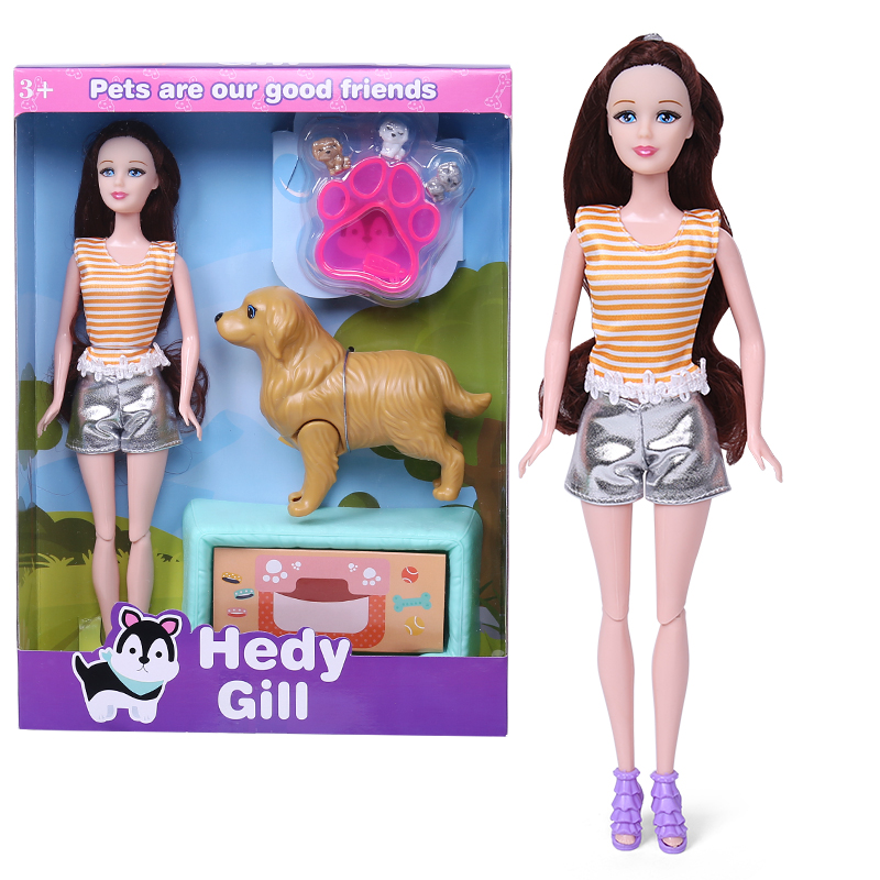 Factory Supplying Gifts for Kids 11.5 inch Plastic Fashion Girl <strong>Dolls</strong>