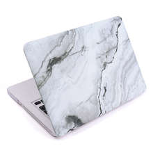 Customized China manufacture shockproof scratchproof white marble hard shell cover case for Macbook Pro 13