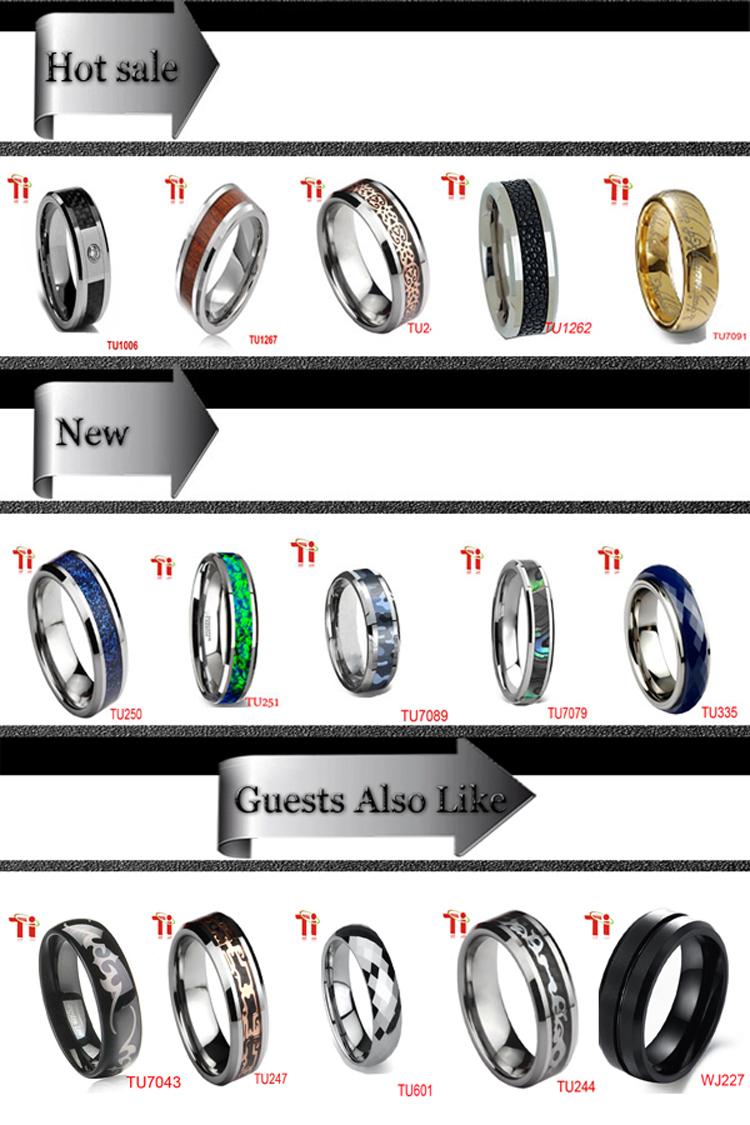 Tungsten Firefighter Wedding Rings Purple Tone Ip Plating Gay Men Ring  Tungsten Ring For Men