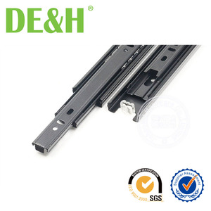 35mm black dotted full extension 18 inch drawer slide