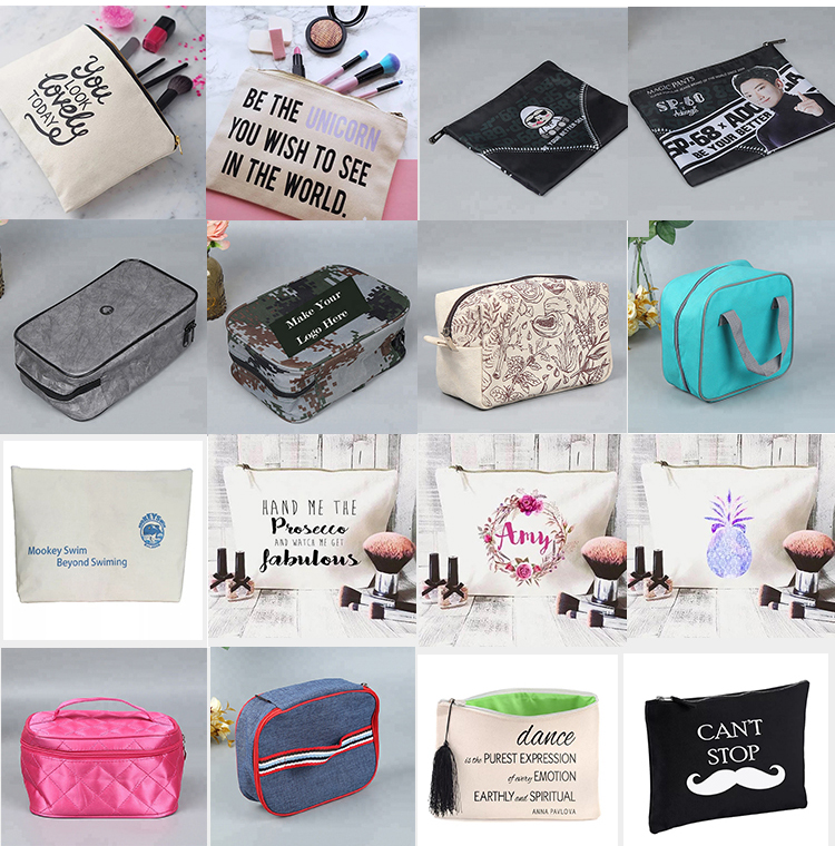 Christmas Printing Eco Friendly Cosmetic Pouch Bag Luxury
