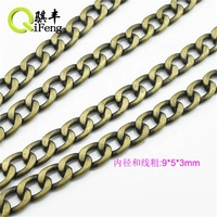 Qifeng Low price Detachable metal bag chain in silver gold