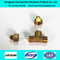 Factory direct sale pipe fitting customized brass tee with mail thread