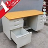 Factory Direct Metal Wood Adjustable Office Table With Sliding Drawer