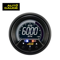 60mm High Performance Digital LCD Electrical Tachometer rpm Meter Gauge with warning and peak