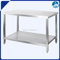 Assembling stainless steel work table with under shelf with splash back JGT04-7-9