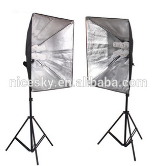 Factory Price Video Light Special Offer Hot Sale Four Lamp 50 * 70 cm Softbox Holder Shooting