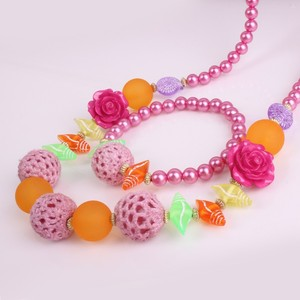 Fashion Chunky Beads Necklace For Little Girls, Color Candy Beads Baby Necklace, DIY JEWELRY For Children