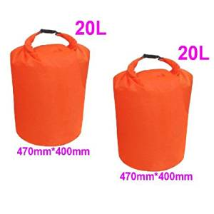 TOOGOO(R) 2 x 20L Waterproof Dry Bag for camping, drifting, hiking and other outdoor activities.(Orange)