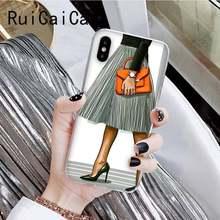 Модный чехол для телефона RuiCaiCa для iPhone 6S 6plus 7 7plus 8 8Plus X Xs MAX 5 XR 11 11pro 11promax(Китай)