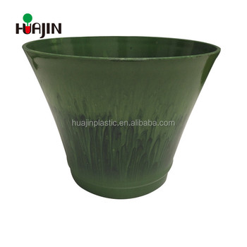 Decor Garden Flower Pot Plastic Shallow Small Plant Containers