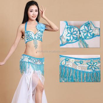 1f1b8a63ff Best selling women belly dancing bra belt professional design decorated  arabic belly dance bra and belt